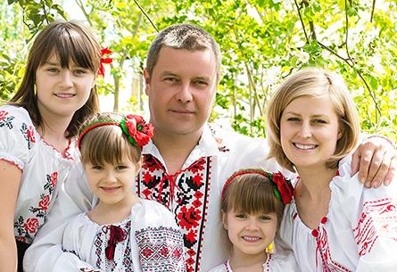 Украинская семья